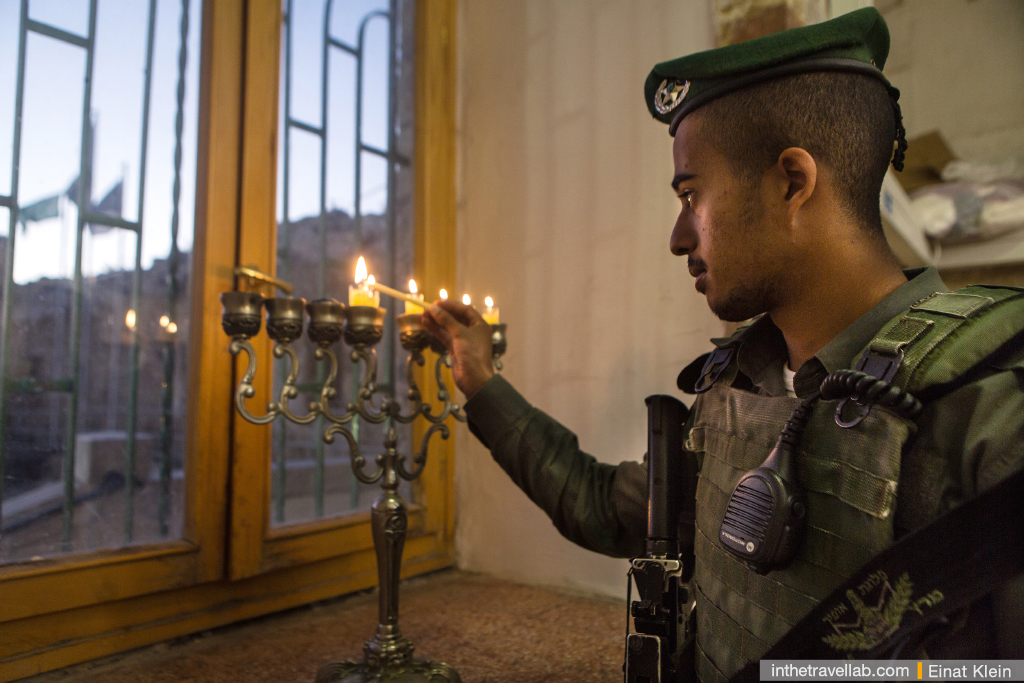 Hanukkah celebration in Hebron, antient Judean Capital and one of the most important cities for Jews.